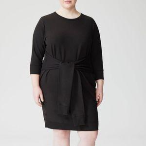 Universal Standard Black Misa French Terry Dress